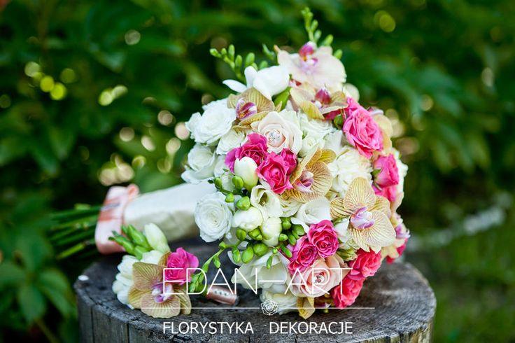 Bukiety Ślubne Edan-Art Mrągowo, Olsztyn, Warmińsko-Mazurskie, biały, róż, ślub, róża gałązkowa, frezja, phalaenopsis, róża, #bukiet
