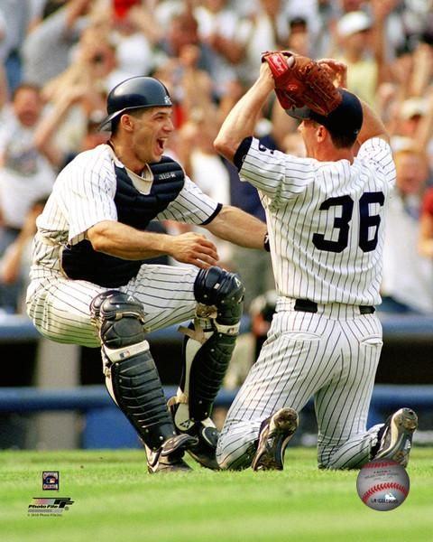 ... Stadium. July 18, 1999; Pictures of Joe Girardi and David Cone After the final pitch of a perfect game!