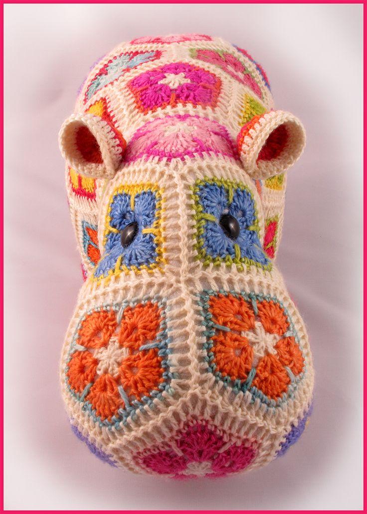 Heidi Bears: Happypotamus the happy Hippo crochet Pattern available