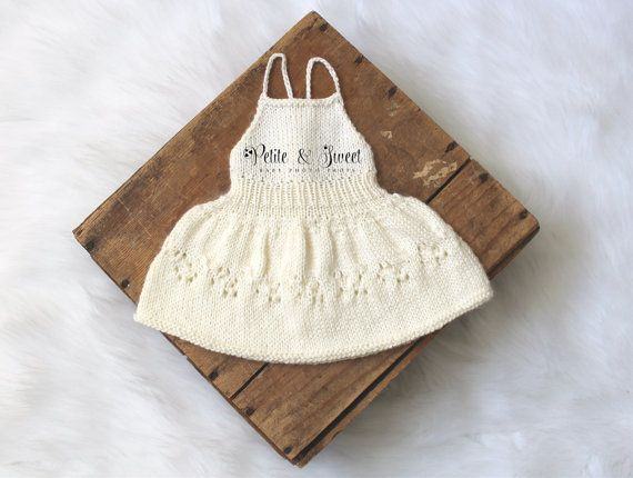 Newborn Knit Dress: Newborn Photography Prop/ Ready To Ship on Etsy, $40.00 CAD