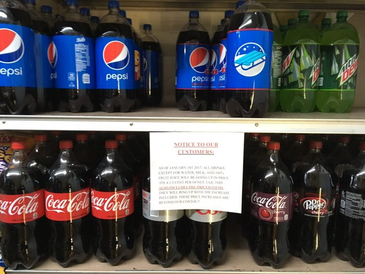 Anne's Place in Fishtown warns customers sodas and other sugar-sweetened beverages will increase in price because of the soda tax.