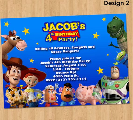 Toy Story Invitation  Toy Story Invite  by KidsPartyPrintables, $9.99