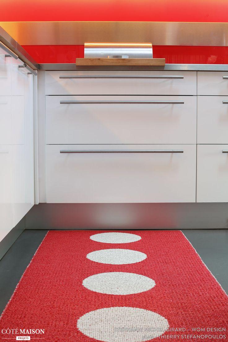 Tapis de cuisine rouge design avec des id es int ressantes pour la conception de for Tapis de cuisine design