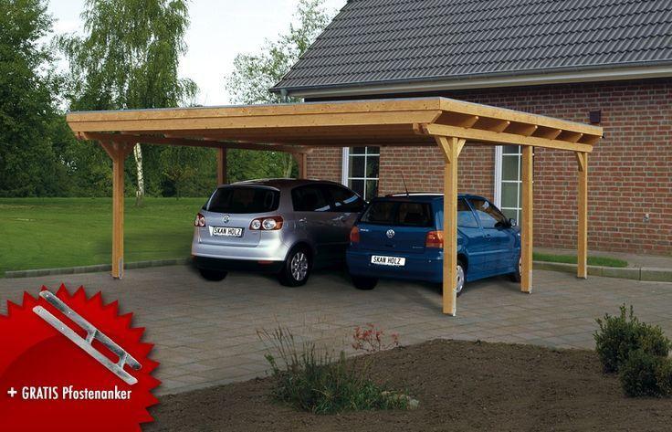 Holz Carport Bausatz Skanholz Emsland Flachdach Doppelcarport Leimholz Wellness Beratung Und Verkauf Carport Pergola Carport Pergola