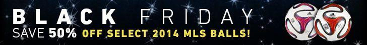 MLS Black Friday Banner Ad - 50% Off MLS Soccer Balls