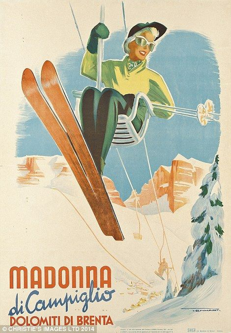 Franz Lenhart's (1898-1992) Madonna di Campiglio design in north Italy is hoped to collect £2,000-£3,000
