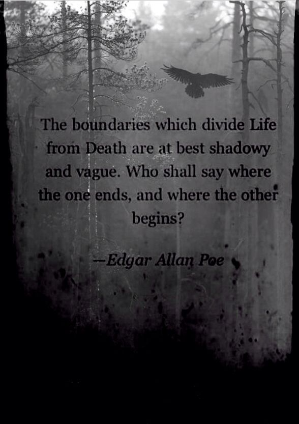 Edgar Allen Poe quote- Crows, Darkness, Wallpaper.