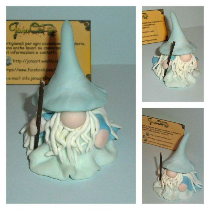 My cute #Gandalf from cold porcelain :)