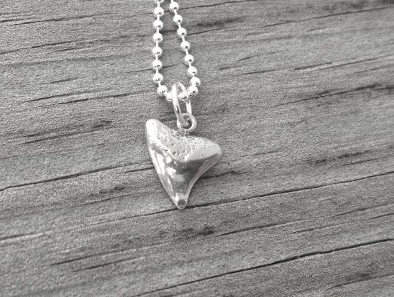 Shark Tooth Necklace Sterling Silver by GirlBurkeStudios on Etsy, $25.00
