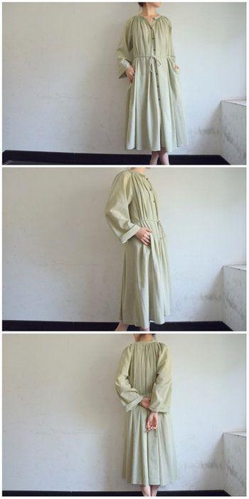 LEMAIRE(ルメール)/GATHERTUNICDRESSギャザーチュニックドレス