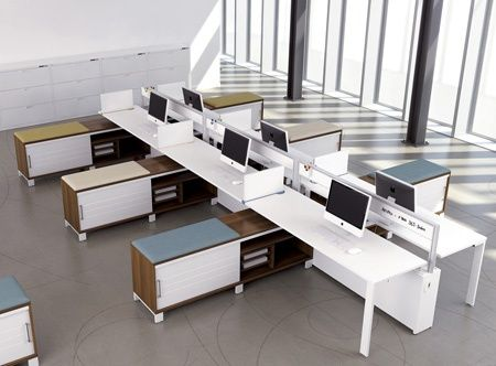 Retro style benching system: Air Line - Freestanding Furniture - Artopex
