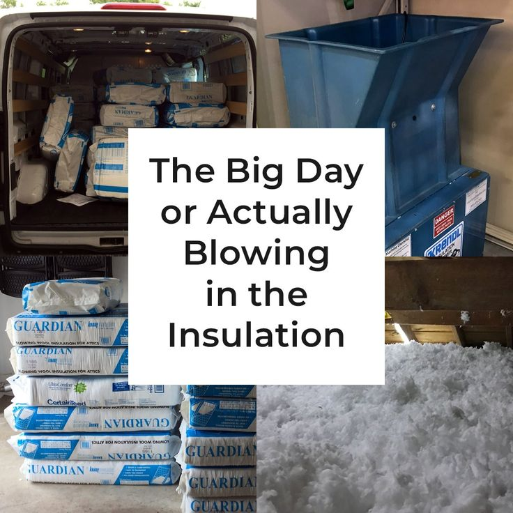 It'sthe moment we've all been waiting for! After months of work in preparation, it's the big day for actually blowing the insulation into the attic. Now is the time to buythe insulation, rentthe blower, and slogthrough a long and hot day of loose fill fiberglass insulation installation!