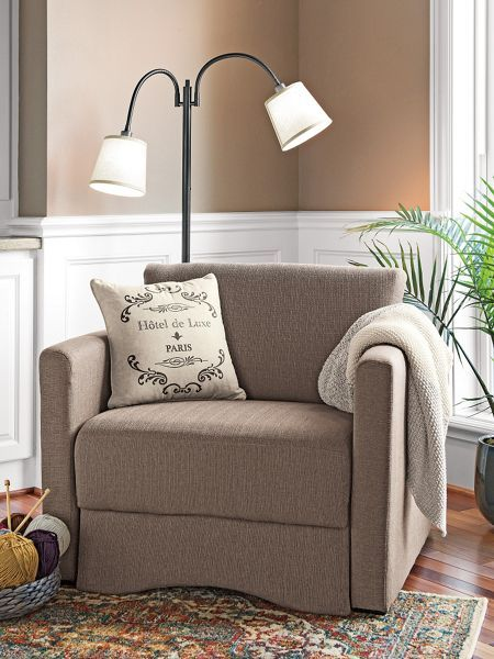 sleeper chair by day this sleeper chair is a classic plush chair with