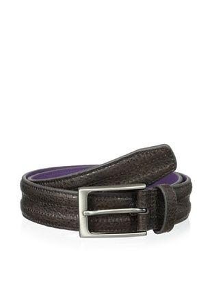 48% OFF Ike Behar Men's 35mm Trapunto Belt (Brown)