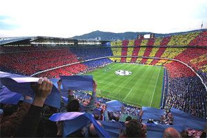 Camp Nou home to FC Barcelona