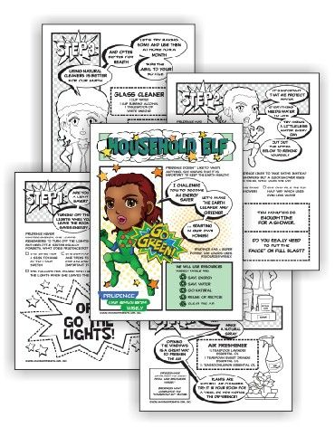 """Can be done in one meeting  Perfectfor mixed level Daisy and Brownie troops  Suitable for independent Girl Scouts  Download link will be in your order confirmation email.  Complete this five-page comic download and Brownies have earned their Household Elf badge and Daisies have earned the green """"Use Resources Wisely"""" petal.…"""