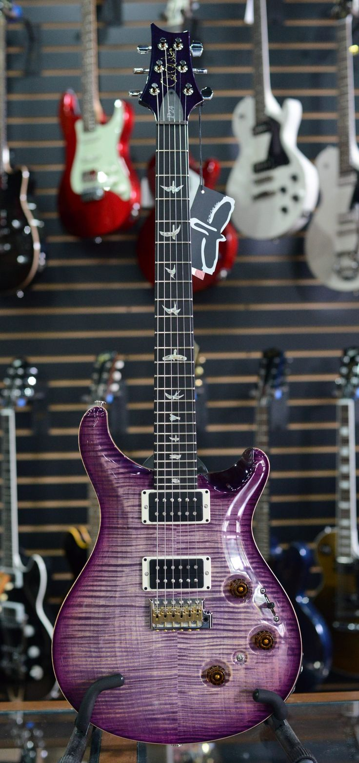 Limited edition #PRS (Paul Reed Smith) #P24 Trem. Purple Fade Sunburst finish #guitar with 10 top.