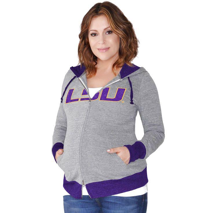 LSU Tigers G-III Sports by Carl Banks Women's Maternity Hat Trick Full-Zip Hoodie - Gray - $47.99