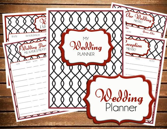 INSTANT DOWNLOAD Wedding Planner Printable - Bride's Checklist -  Printable Planner Organizer - (Organized Family Binder) on Etsy, $20.00