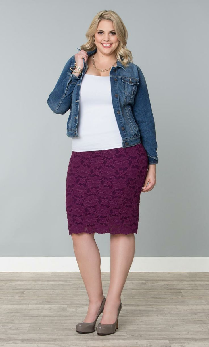 Grab our plus size Shayla Lace Skirt on sale for summer!  www.kiyonna.com  #KiyonnaPlusYou  #Plussize  #MadeintheUSA  #Kiyonna