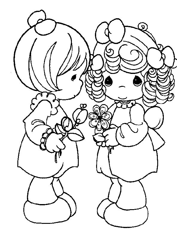 Precious Moments Summer Coloring Pages - Bing Images