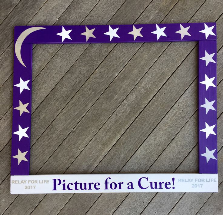 Relay for Life Photo Frame - RFL Photobooth - Photo Bboth Frame Prop - Relay for Life Frame Prop