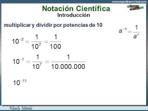 NÚMEROS RACIONALES - Notación Científica: Multiplicación y División con Potencias de 10-Lección - YouTube