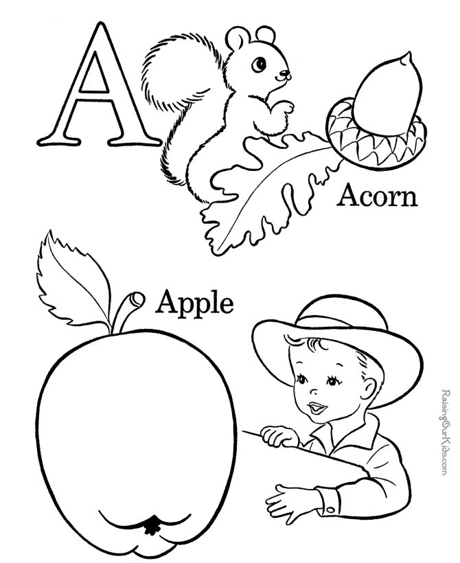 free printable alphabet coloring pages letter a