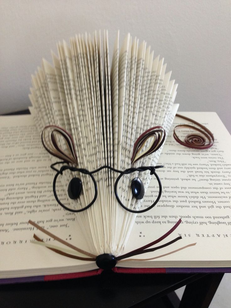 This is the Christmas tree fold. The first book in the Potter series is not large enough to fold anything serious, so a Harry Potter mouse seemed ideal!