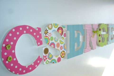 Betű babaszobába, gyerekszobába FLOWER BOX témára, Otthon, lakberendezés, Baba-mama-gyerek, Dekoráció, Gyerekszoba, Meska