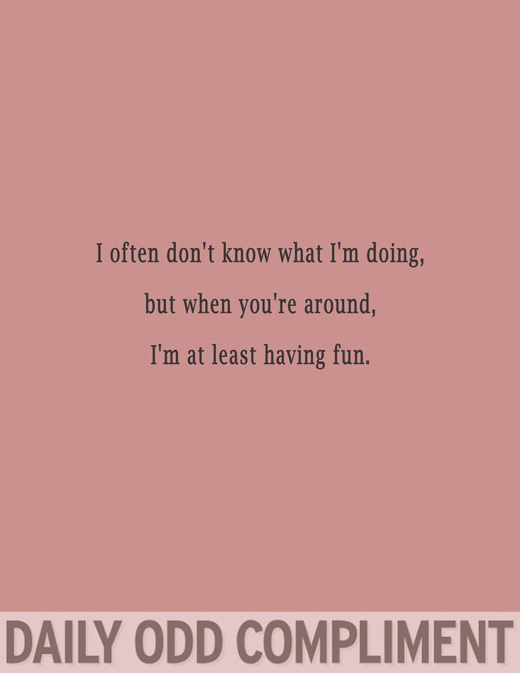 "Daily Odd Compliment — ""Having Fun"""