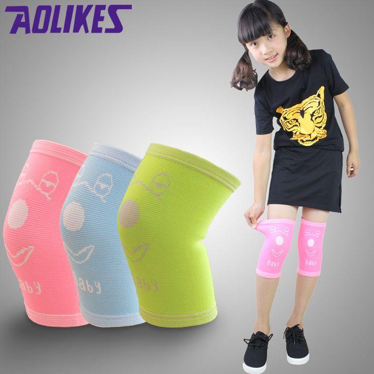 AOLIKES 1 Pair Nylon Elastic Sport Knee Pads For Children Kneepads For Ddancing Roller Skating Kids Rodilleras Protector