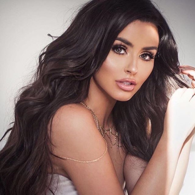 "@abigailratchford looks stunning in ""Baby Joon"" liquid lipstick 💄❤️ Flawless makeup by @leahdarcymakeup 😍 To shop my line visit www.RinconCosmetics.com"