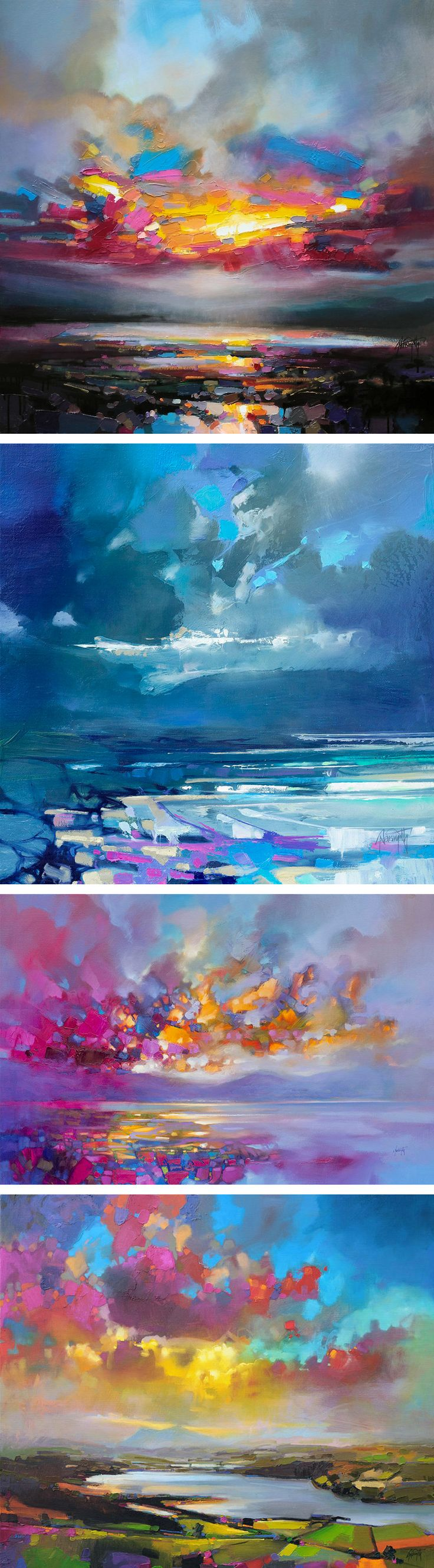 vibrant oil paintings of scottish landscapes by scott naismith - Oil Painting