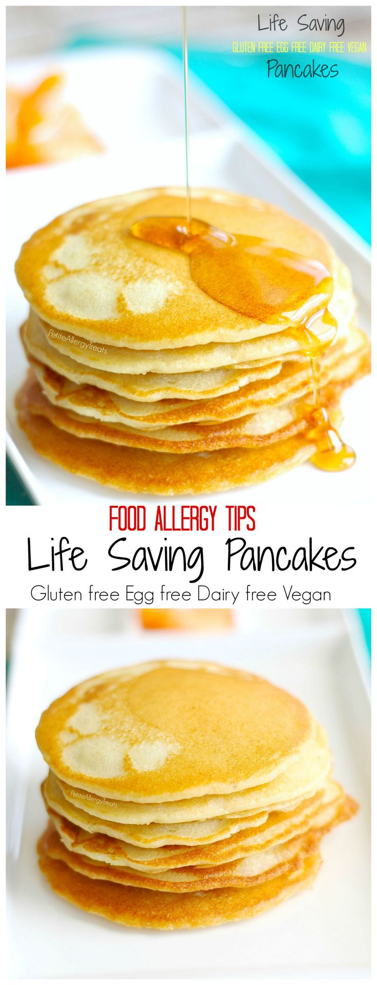 Gluten Free Egg Free Pancakes (Vegan)- Basic Life Saving baking for food allergies and tips to help- dairy free, soy free #glutenfree #recipes #healthy #gluten #recipe