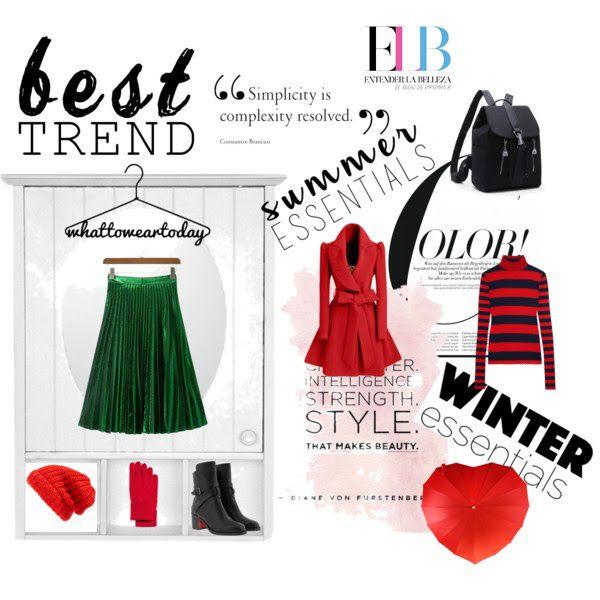 Así podrías combinar una falda de tablas este invierno :)