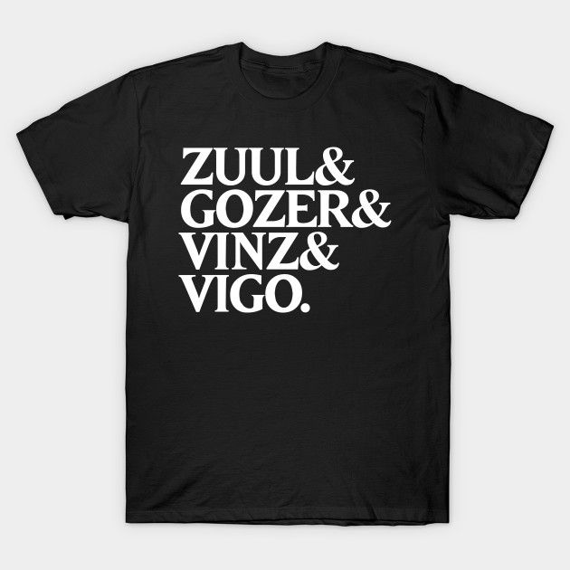 Zuul & Gozer & Vinz & Vigo T-Shirt - Ghostbusters T-Shirt is $14 today at TeePublic!