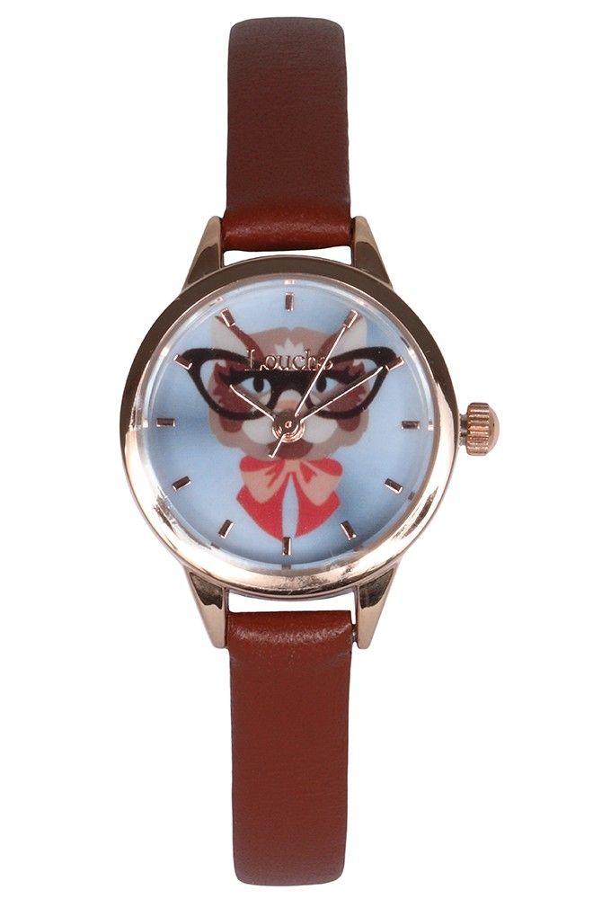 Louche Tan Strap Kat Watch