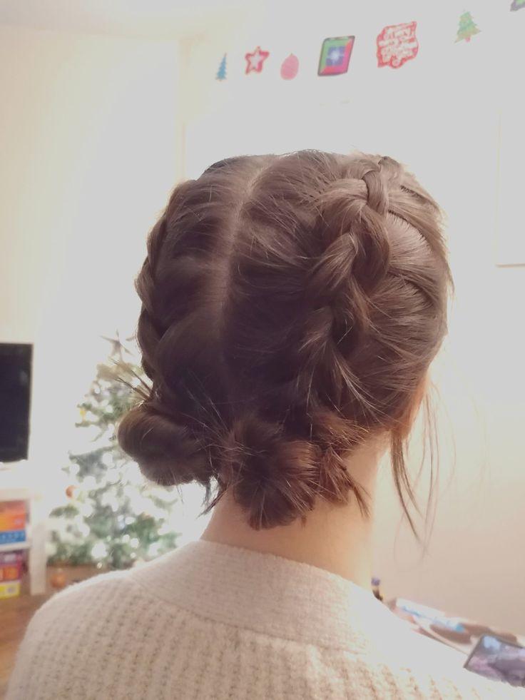 Dutch Braid Space Buns Game Day Hair Dance Hairstyles Ball Hairstyles