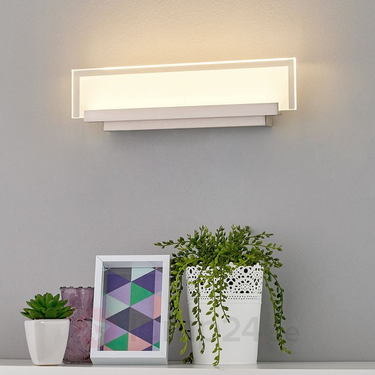 Elegant LED-vägglampa med glasplatta!