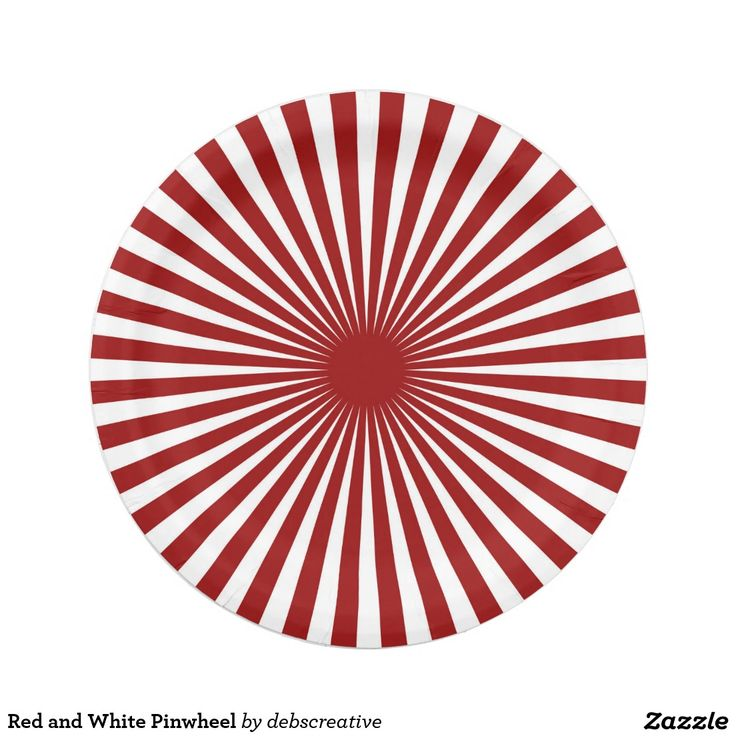 Red and White Pinwheel Paper Plate  sc 1 st  Pinterest & 1000+ best Custom Party PAPER PLATES images on Pinterest | Christmas ...