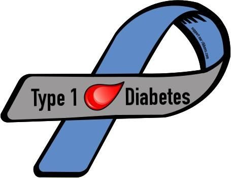 Type 1 Diabetes Ribbon. in honor of my uncles. love them and miss them.
