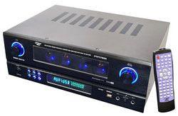 19'' Rack Mount 2000 Watt AM/FM Multi Source Receiver & Vacuum Tube Amplifier with built in Pre-Amp.