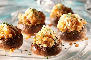 Take the night up a notch with these decadent Chicken Marsala-Stuffed Mushrooms with RITZ Cracker topping.