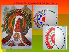 Элементы дымковской росписи.
