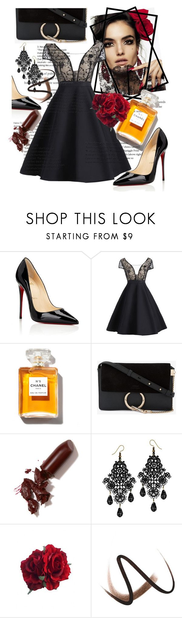 """femme falete"" by phoebewry ❤ liked on Polyvore featuring Blanca, Christian Louboutin, Chloé, LAQA & Co. and Burberry"