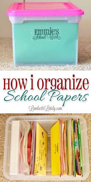 How I Organize School Papers | Lamberts Lately | Bloglovin'