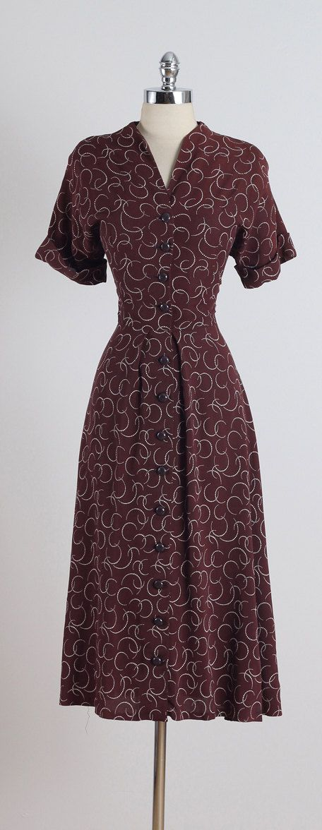 Boston Maid . vintage 1930s dress . vintage by millstreetvintage