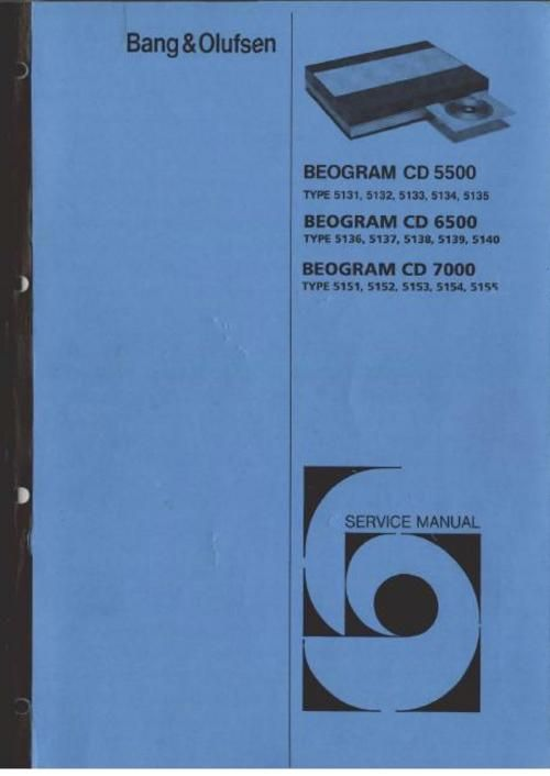 Bang & Olufsen Service Manual for : Beogram 5500 (type 5131 , 5132 , 5133 , DOWNLOAD