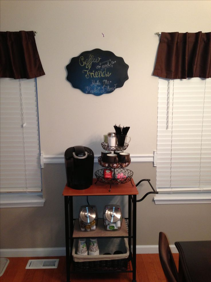 diy coffee bar organizing pinterest the o 39 jays bar. Black Bedroom Furniture Sets. Home Design Ideas